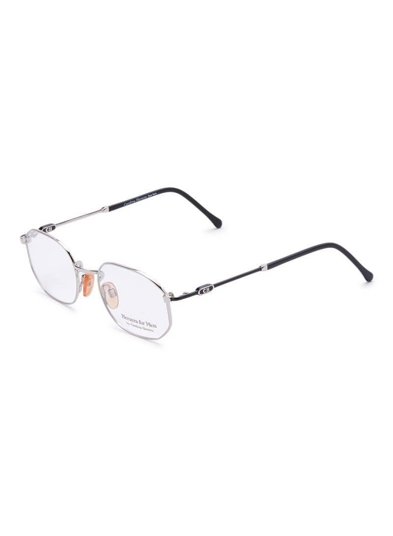 Carolina Herrera New York Frame For Unisex Silver / Black - CH803-PD504-49-19-140 - 2071MALL