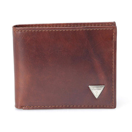 Guess Men's Naples Passcase Premium Leather 4 Credit Card Multicard Wallet Billfold Tan 31GU22X017 - 2071MALL