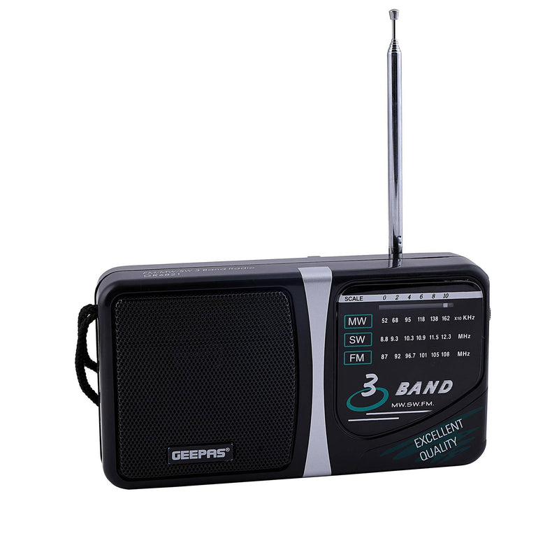 Geepas 4 Band Radio With Tv Sound Am/Fm 1X48 - Black, GR6821