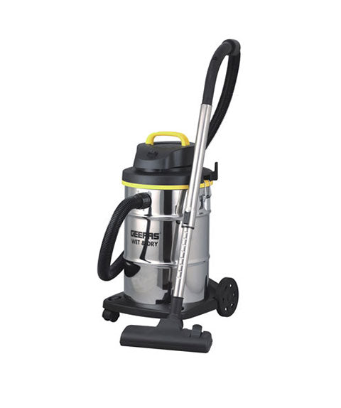 GEEPAS Dry & Wet 23L 1000-1200W GVC19012 Silver Stainless Steel Vacuum Cleaner, GVC19012 - 2071MALL