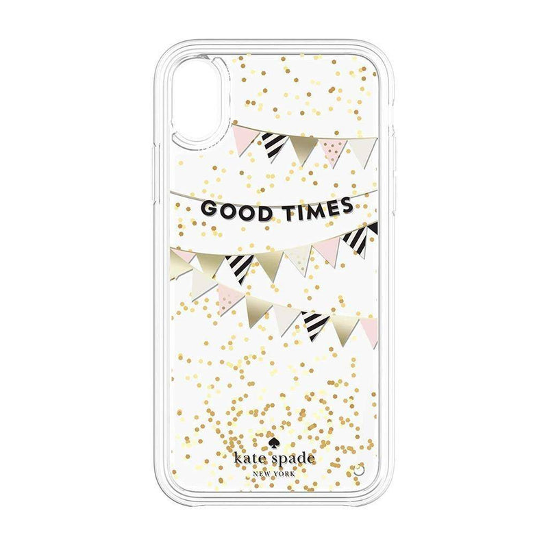 Kate Spade NY - Liquid Glitter Case for iPhone XR Good Times Gold, KSIPH-114-GTCBG - 2071MALL