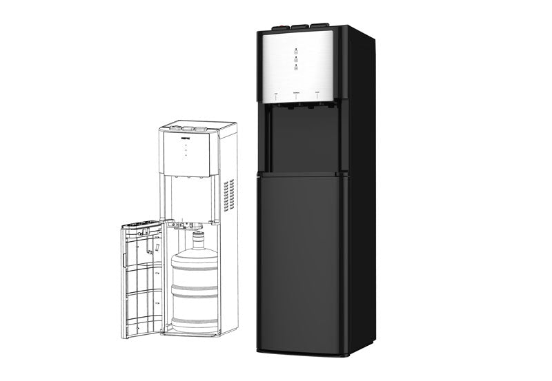 GEEPAS  Bottom Loading Water Dispenser - Black, GWD17021 - 2071MALL
