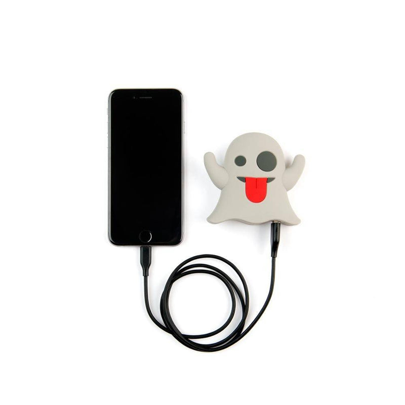 Moji Power - External Battery Portable Charger 2600 Mah Power Bank - Ghost - White, MP-001-GH - 2071MALL