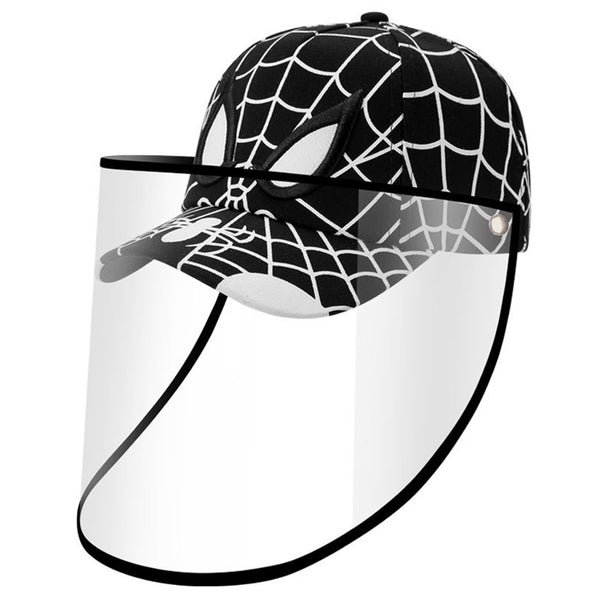 SPIDERMAN Baseball Kids Anti-spitting Protective Cover Cap (Black/White) - 2071MALL