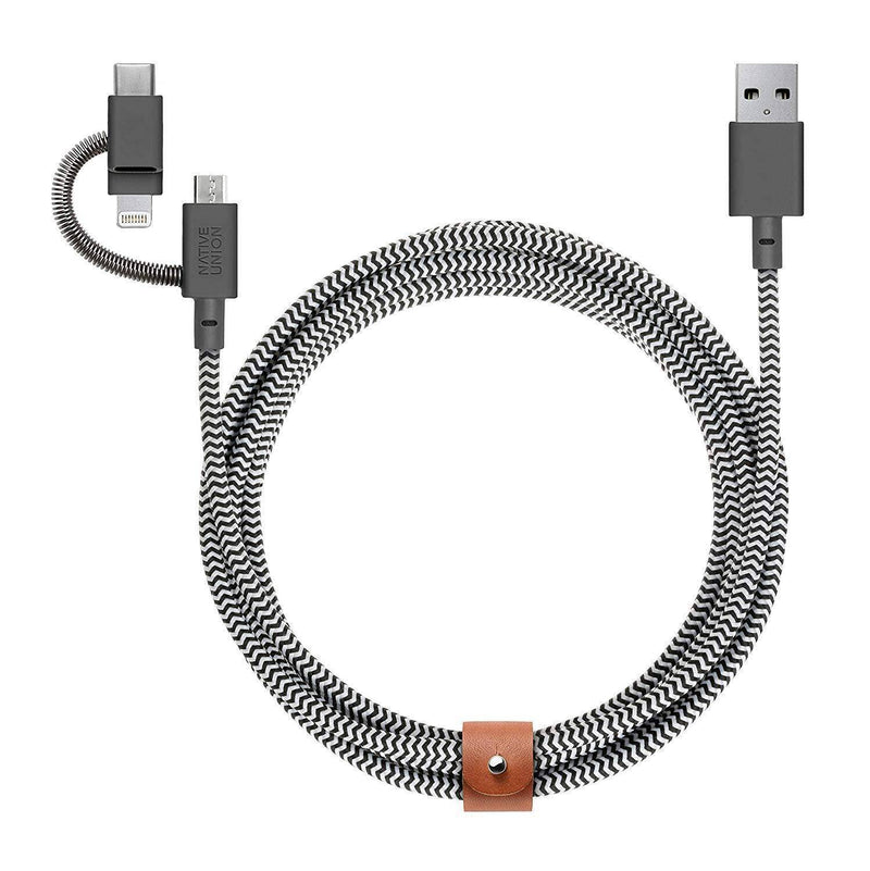 Native Union - Belt Cable Universal - Zebra, NU-BELT-KV-ULC-ZEB-V2 - 2071MALL