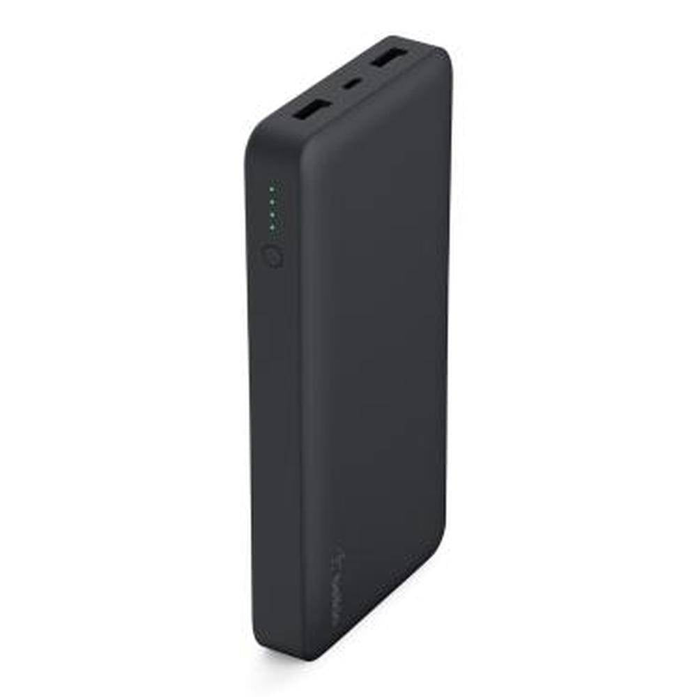 Belkin Power Pack 15000 Mah Lithium Polymer With 2.4A Input - Black, BKN-F7U021BTBLK - 2071MALL