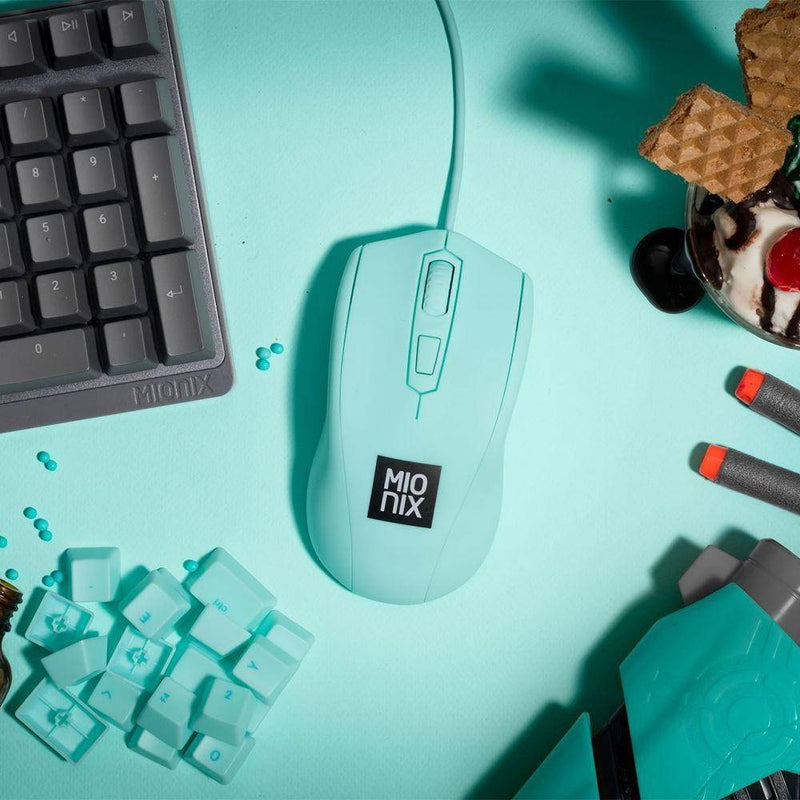 Mionix - Avior Ambidextrous Optical Gaming Mouse Ice Cream - Turquoise, MNX-01-27012-G - 2071MALL
