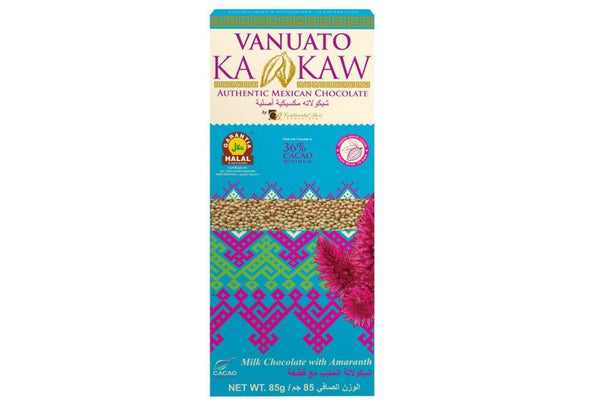 Vanuato Kakaw Milk Chocolate with Amaranth 85gm