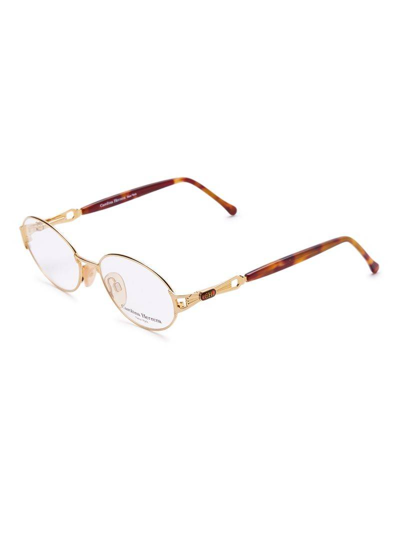 Carolina Herrera New York Frame For Unisex Gold Plated Havana - CH704-GP656-51-17-130 - 2071MALL