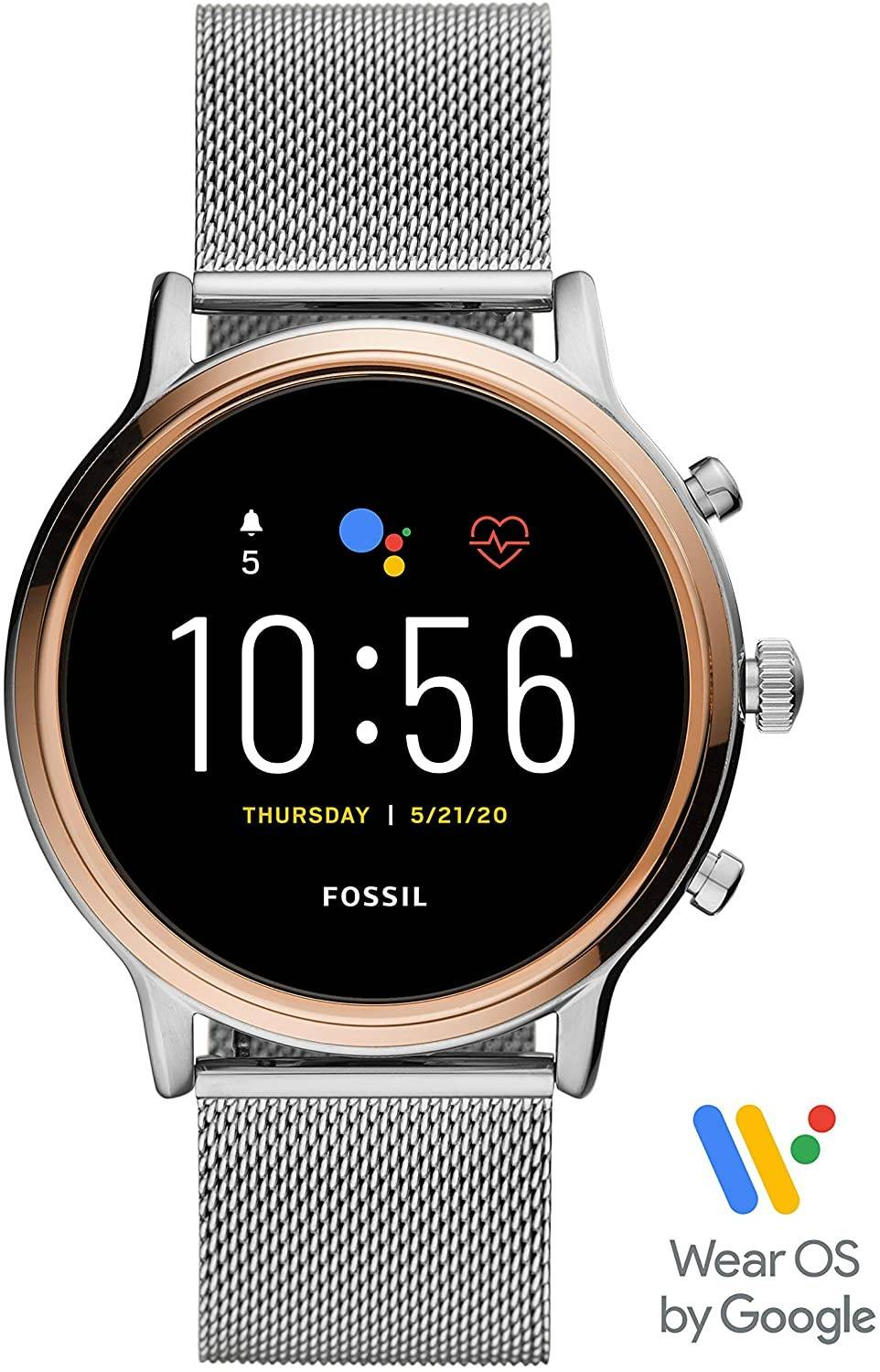 Fossil Gen 5 Julianna Stainless Steel Touchscreen Smartwatch With Speaker, Heart Rate, GPS, NFC, And Smartphone Notifications - 2071MALL