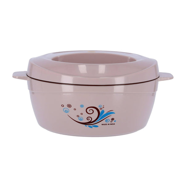 Royalford 2500ML Deluxe Insulated Casserole Stainless Steel Interior Hot Pot with Twist Lock Dishwasher Safe