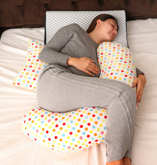 Moon Multi-Position Pregnancy Pillow White - 2071MALL