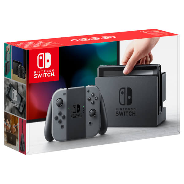 Nintendo Switch 32GB Gaming Console Black Grey Joy Con Nintendo Switch Gray - 2071MALL