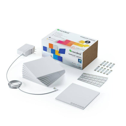 Nanoleaf - Canvas Square White Expansion 9 Pack Touch And Rhythm Sensitive Led Light Panels - White, NL29-0002SW-9PK - 2071MALL