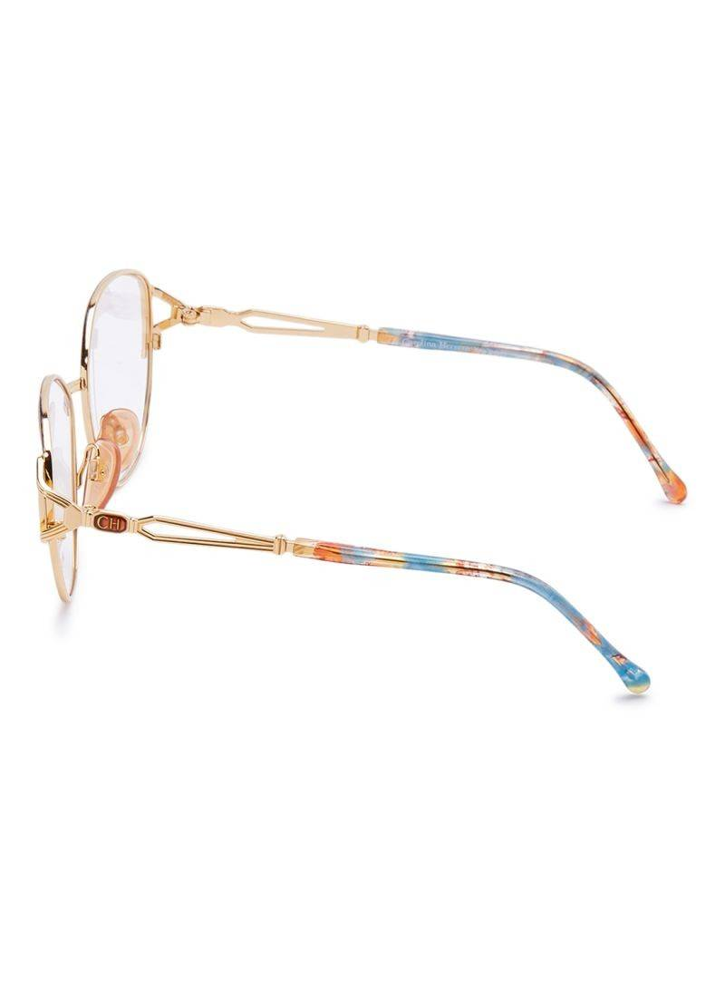 Carolina Herrera New York Frame For Unisex Gold Plated And Designed - CH713-GP161-55-18-130 - 2071MALL