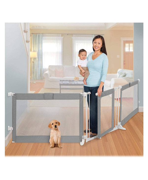 Summer Infant Custom Fit Walk-Thru Gate (Grey) - 2071MALL