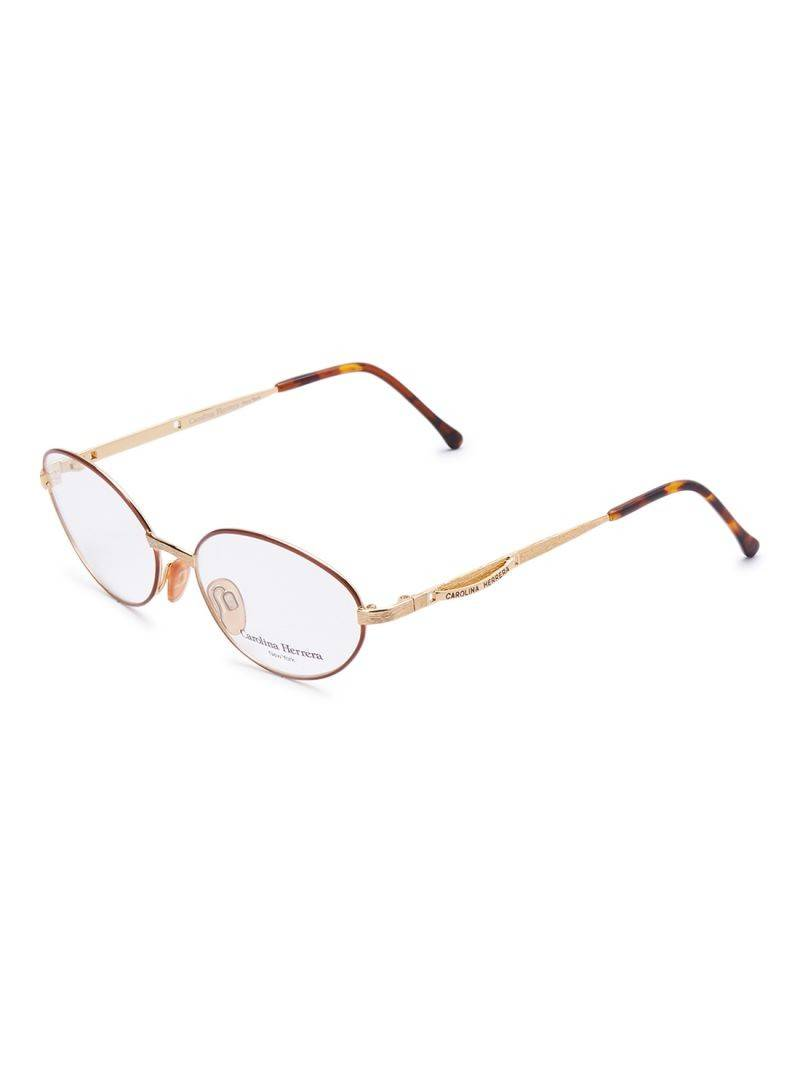 Carolina Herrera New York Frame For Unisex Gold Plated And Brown - CH717-GP536-54-17-135 - 2071MALL