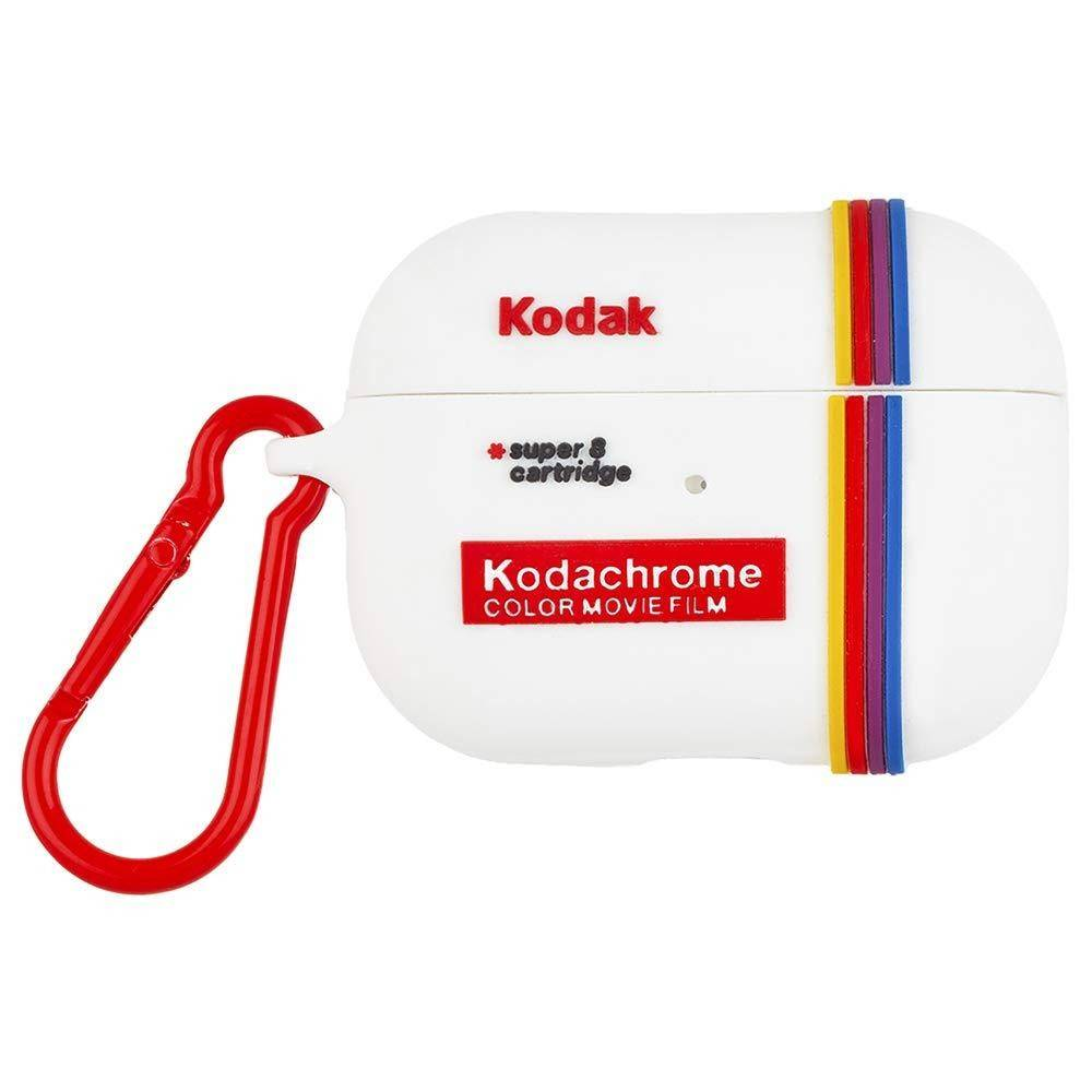 Case-Mate Kodak AirPods Pro Case Kodak White with Kodachrome Stripes with Red Clip, Red, CM-CM041860 - 2071MALL