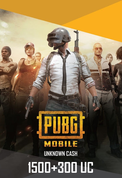 PUBG Mobile 1500 + 300 UC US- Instant Delivery (Prepaid Only) - 2071MALL