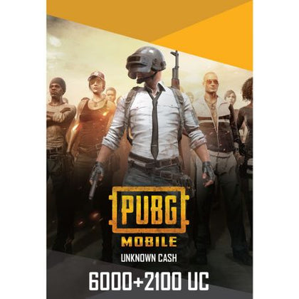 PUBG Mobile 6000 + 2100 UC US - Instant Delivery (Prepaid Only) - 2071MALL
