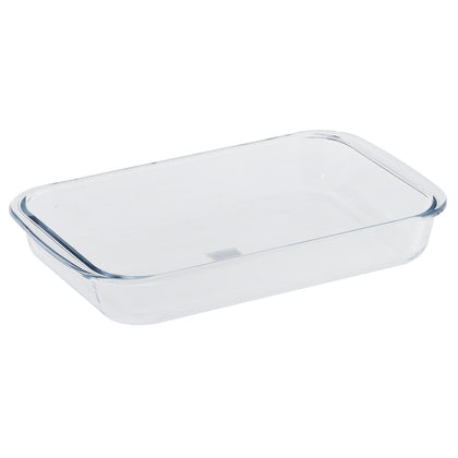 Royalford RF2693-GBD Borosilicate Glass Square Roaster, Casserole Baking Dish, Glass Oven Proof Cooking Dish, Oven Safe Bakeware - 2071MALL