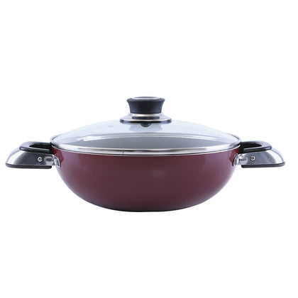 Royalford RF2947 Non-Stick Wokpan With Lid, 22 CM - 2071MALL