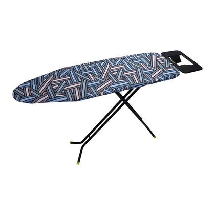 Royalford RF8523 110 x 34 cm Ironing Board with Steam Iron Rest, Heat Resistant, Contemporary Lightweight Iron Board with Adjustable Height and Lock System (Blue & White) - 2071MALL