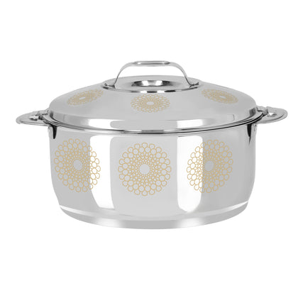 Royalford RF9715 Salwa Double Wall Stainless Steel Hot Pot 6000ML - Portable Extra Deep Hot Pot, Serving Dishes with Lids, Hot Food Storage & Warmers - 2071MALL