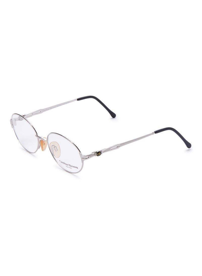Carolina Herrera New York Frame For Unisex Silver And Black - CH706-PD520-53-17-130 - 2071MALL