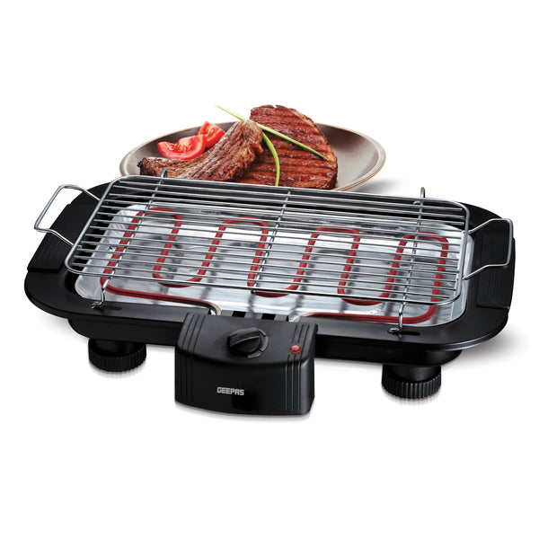 Geepas Open Air Barbecue Grill With Cool Touch Handles 1X6 - Black,GBG877 - 2071MALL