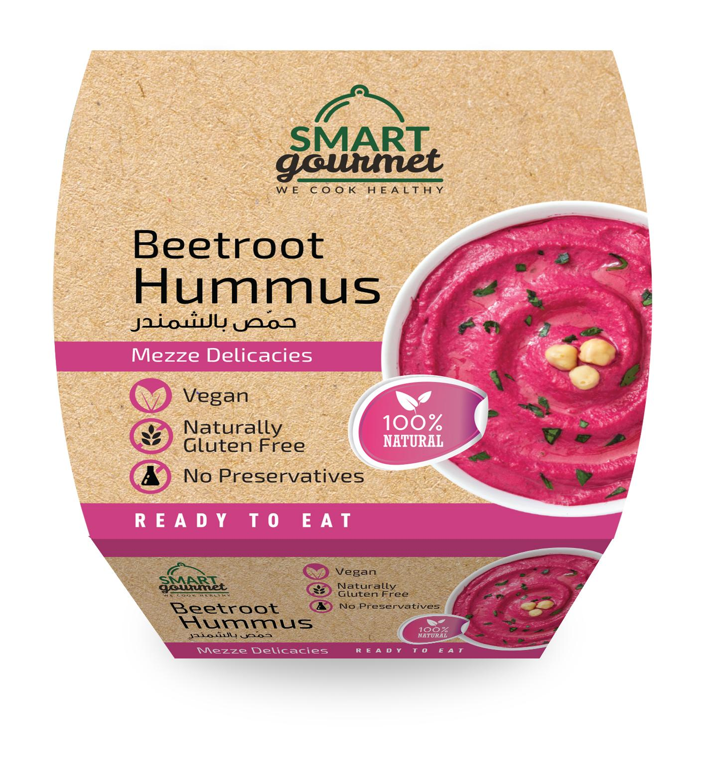 Smart Gourmet Beetroot Hummus 225G (Pack Of 18) - 2071MALL