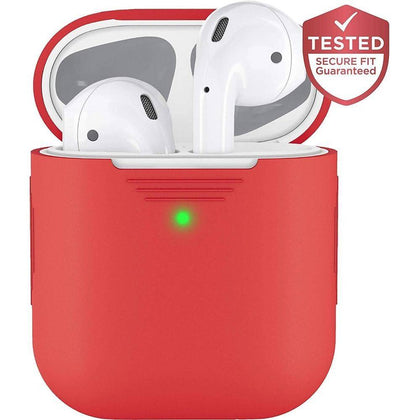 KeyBudz - PodSkinz 2G - AirPods 1 & 2 Case - Red, KB-PS-RED - 2071MALL