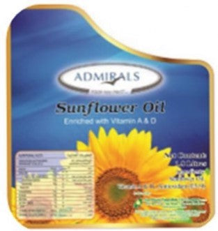 Admirals Pure Sunflower Oil