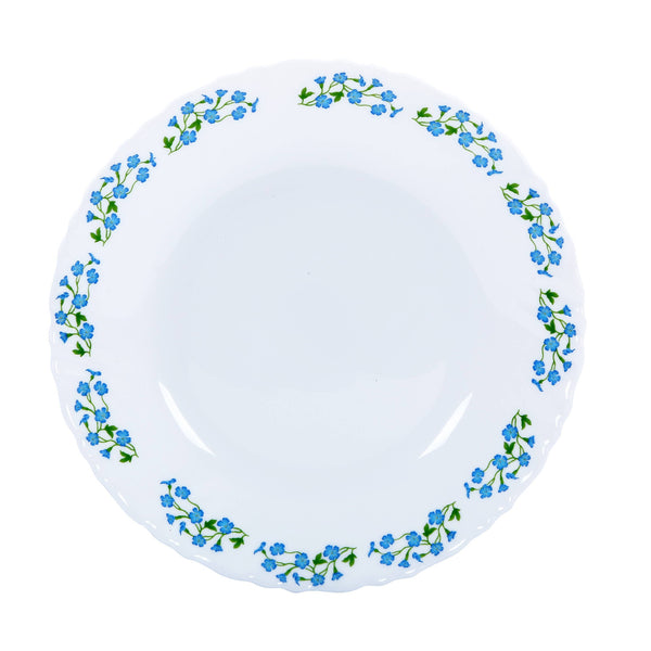 "Delcasa DC1459 7.5"" Opal Ware Dinner Plate - Meal Plates Pasta Plates Plate with Playful Classic decoration Freezer & Dishwasher Safe"