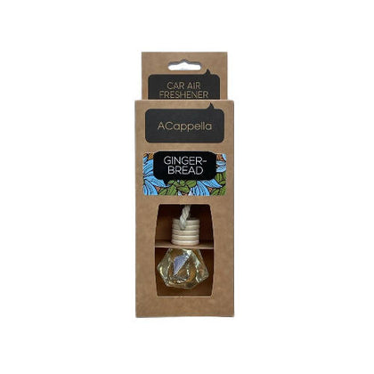 "Acappella CRAFT Pendant Car Air Freshener in glass bottle ""Gingerbread"" - 2071MALL"