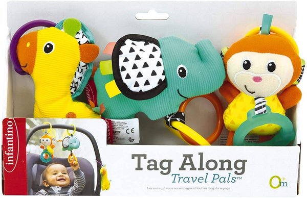 Infantino Tag Along Travel Pals Multicolor