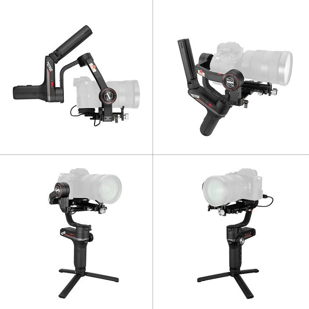 Zhiyun WEEBILL S 3-Axis Camera Handheld Gimbal Stabilizer Tiny Body Support Auto Tuning 14 Hours Runtime High Responsiveness Instant Setting APP Free Compatible with Canon Nikon Sony DSLR Cameras - 2071MALL