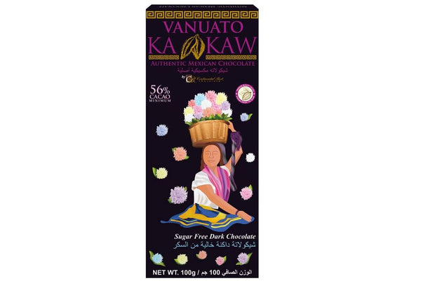 Vanuato Kakaw Sugar Free Dark Chocolate 100gm