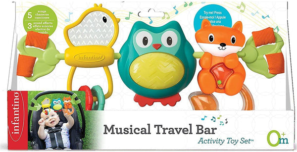 Infantino Spin & Sing Travel Bar Activity Toy