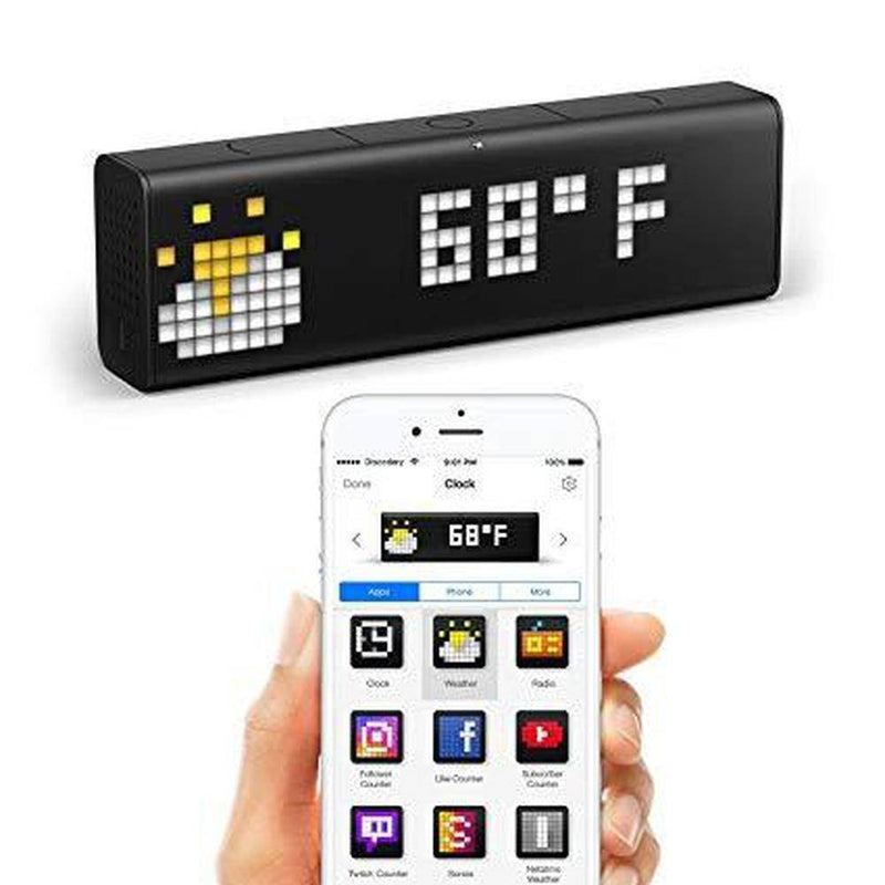 Lametric - World'S Smartest Clock - Wifi Connected Clock With Led Indicator Panel - Black, LM-LSD-S-EU - 2071MALL