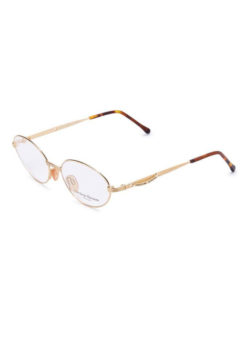Carolina Herrera New York Frame For Unisex Gold Plated And Brown - CH717-GP656-54-17-135 - 2071MALL