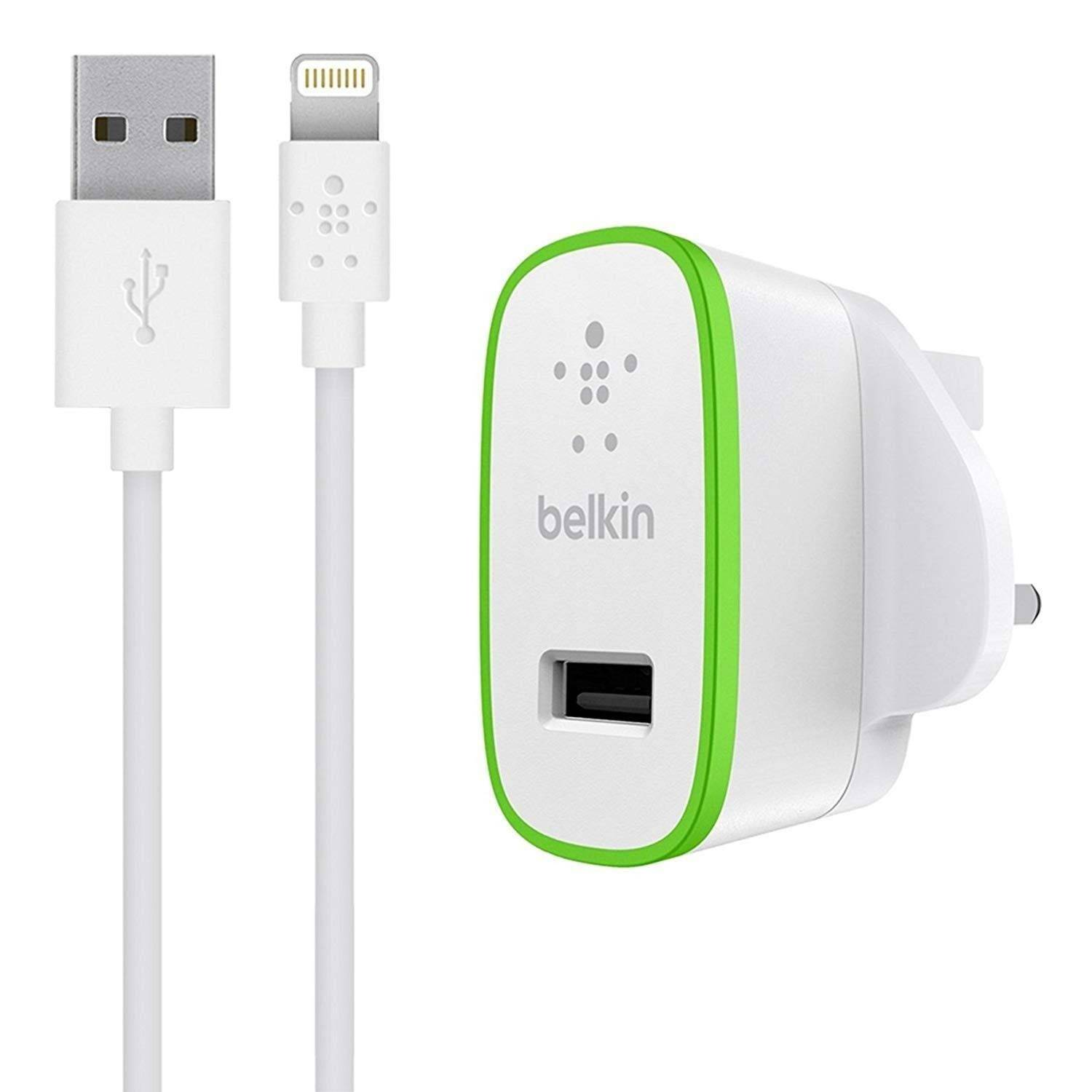 Belkin - Ultra Ultra-fast 2.4amp Usb Mains Charger EU With 1.2m Lightning Cable -BKN-F8J125VF04 White - 2071MALL