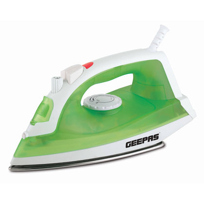 Geepas Steam Iron Dry Spray Steam 1600W 1X10 - White/Green, GSI7783 - 2071MALL