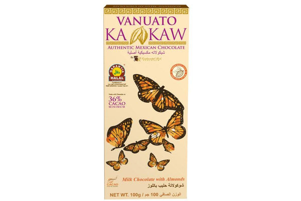 Vanuato Kakaw Milk Chocolate with Almonds 100gm
