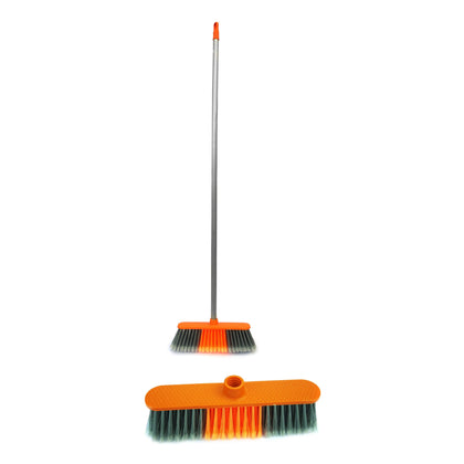 Delcasa DC1082 Broom with PVC Coated Wooden Handle - Indoor Sweeping Broom Brush The Perfect Indoor Sweeping Kitchen Floor Brush Broom for Your House - 2071MALL