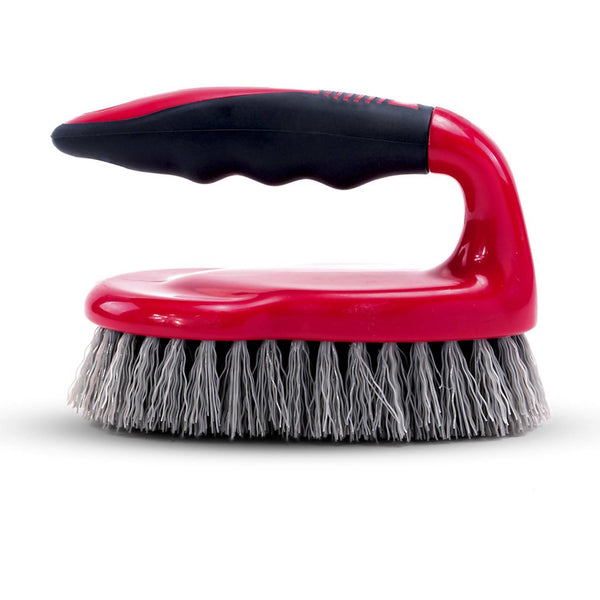 Royalford RF8827 Scrubbing Brush with Handle - Easy to Clean Hard & Stiff Bristle Brush Made of Durable Plastic Material