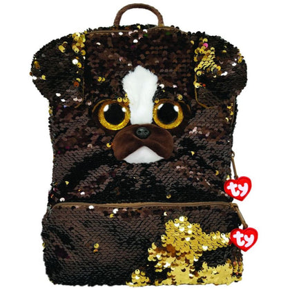 Ty Fashion Sequin Dog Brutus, Backpack - 2071MALL