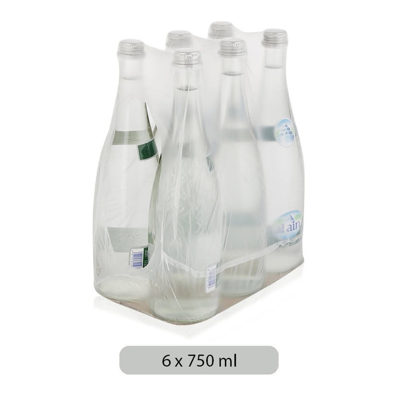 AL AIN Sparkling Water Glass Bottle (750ml x 6 pcs) - 2071MALL