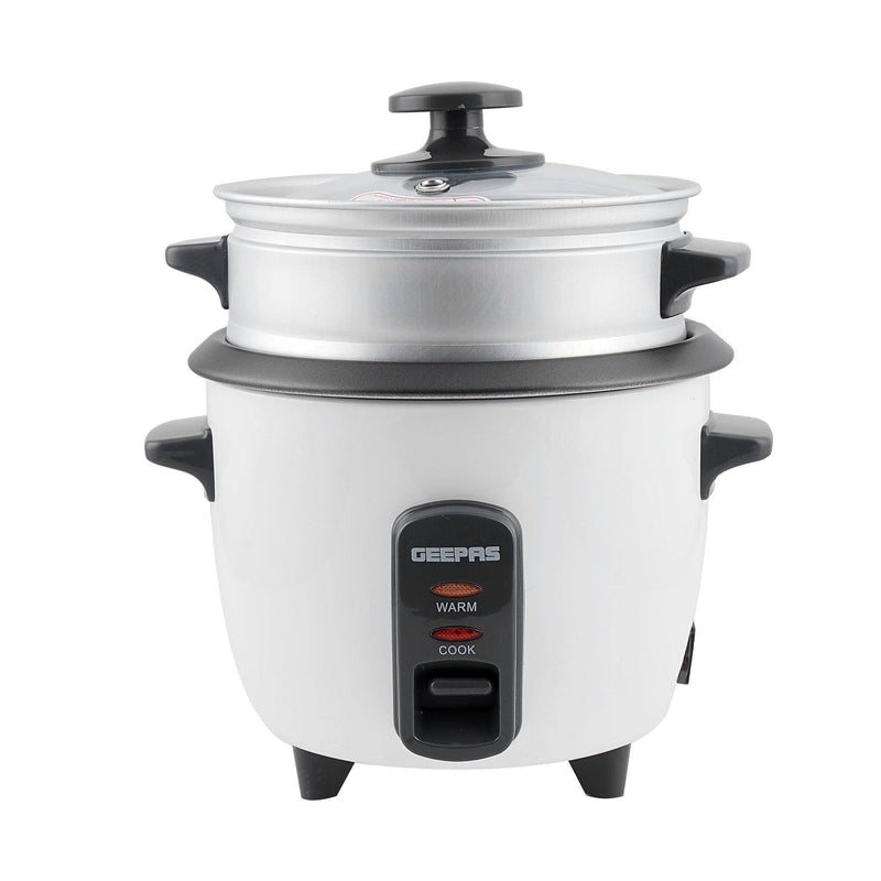 Geepas Electric Rice Cooker Cook & Warm 0.6L 1X6 - White