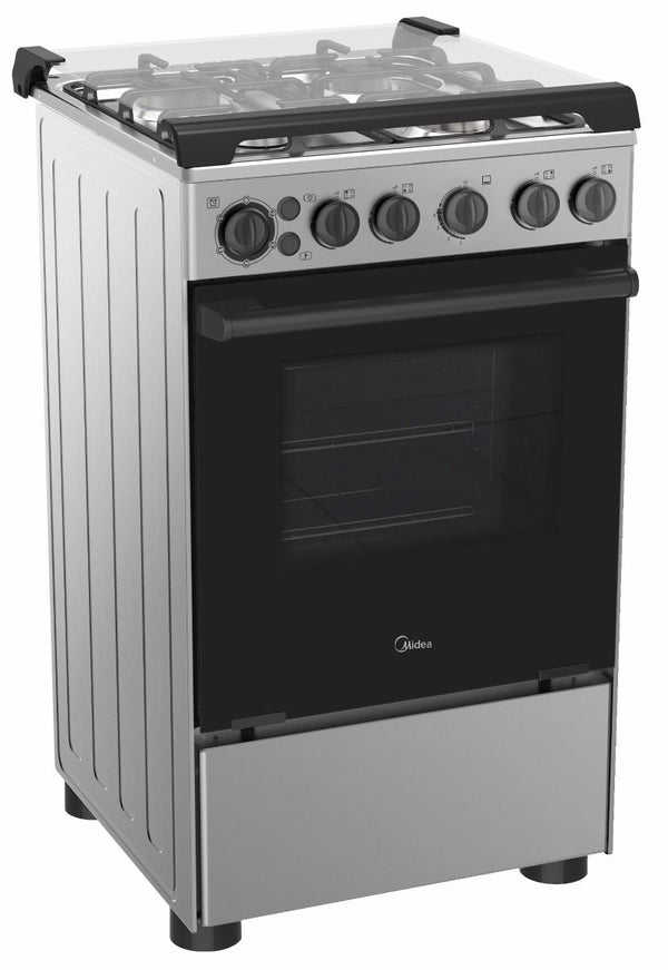 Midea 4 Burners Gas Gas Cooker With Cast Iron Pan Support 40 Liters BME55007FFD - 2071MALL